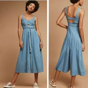 Holding Horses Halle Wide Leg Chambray Jumpsuit